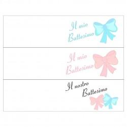 Bigliettini confetti per Bomboniere Battesimo (50 pezzi)