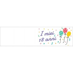 Bigliettini confetti per Bomboniere Diciottesimo Compleanno (50 pezzi)