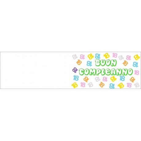 Bigliettini confetti per Bomboniere Compleanno (50 pezzi)