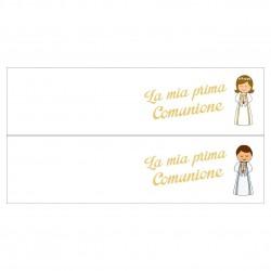 Bigliettini confetti per Bomboniere Comunione (50 pezzi)