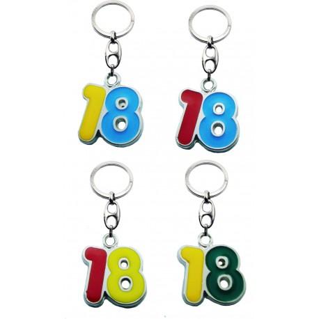 Portachiave Numero 18 (10 pezzi)