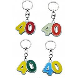 Portachiave Numero 40 (10 pezzi)