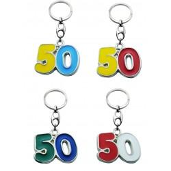 Portachiave Numero 50 (10 pezzi)