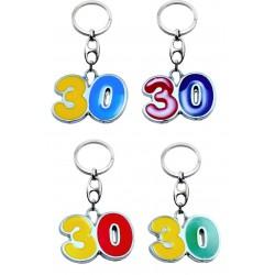 Portachiave Numero 30 (10 pezzi)