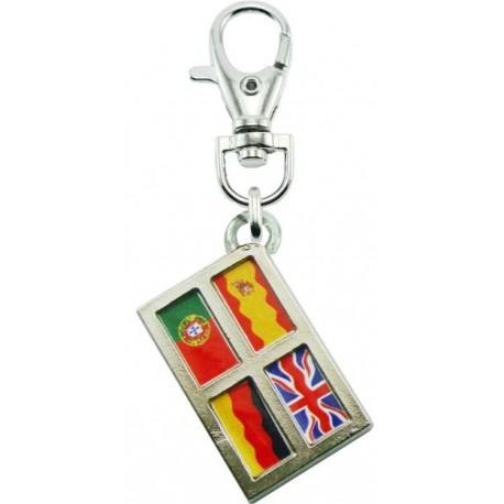 Portachiave Bandiere Lingue (10 pezzi)