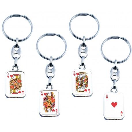 Portachiave Poker (10 pezzi)