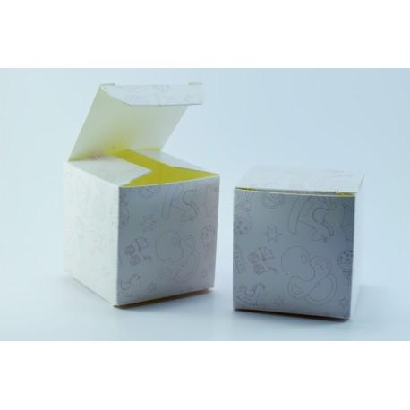 Scatolina Portaconfetti a forma di Cubo per Nascita (Rosa)