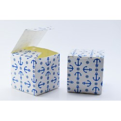 Scatolina Portaconfetti a forma di Cubo Tema Marino