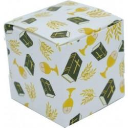 Scatolina Portaconfetti a forma di cubo comunione