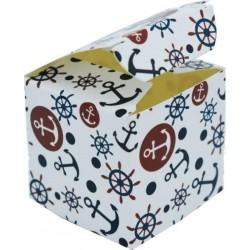 Scatolina Portaconfetti a forma di cubo mare